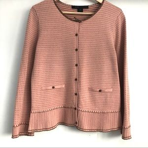 Marc Jacobs Cotton Jacquard Cardigan Pastel